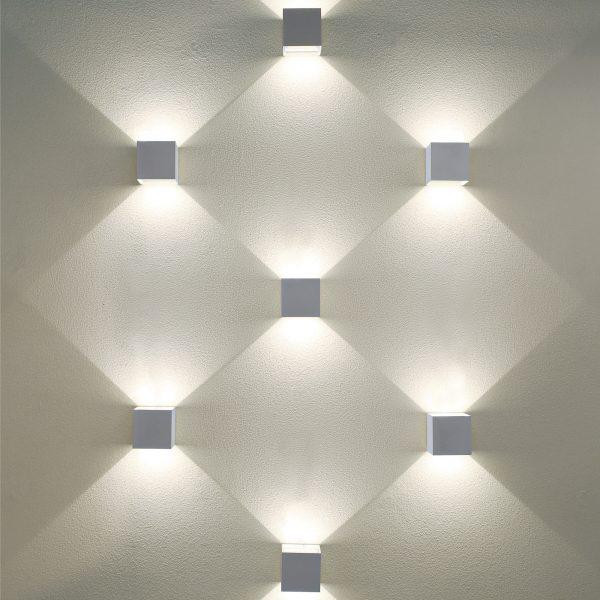 WINNER белый уличный настенный светодиодный светильник 1548 TECHNO LED 1