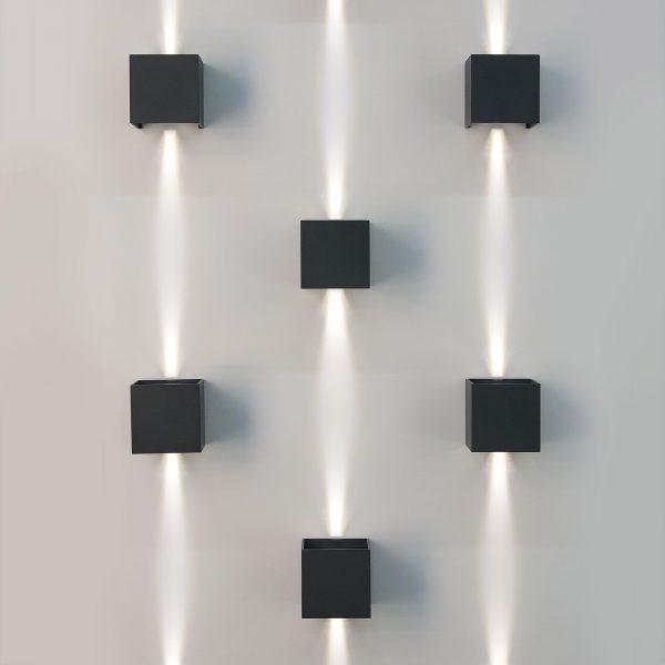 WINNER белый уличный настенный светодиодный светильник 1548 TECHNO LED 2