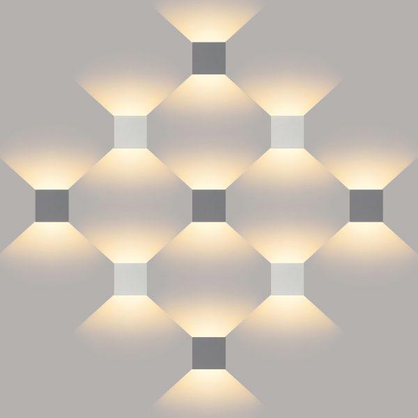 WINNER белый уличный настенный светодиодный светильник 1548 TECHNO LED 7