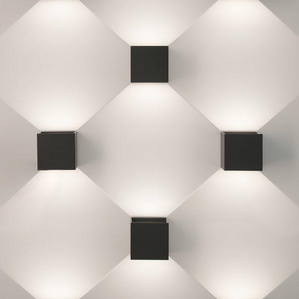 WINNER черный уличный настенный светодиодный светильник 1548 TECHNO LED 1