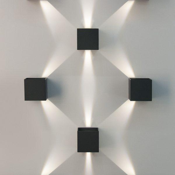 WINNER черный уличный настенный светодиодный светильник 1548 TECHNO LED 2