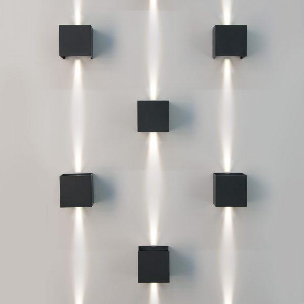 WINNER черный уличный настенный светодиодный светильник 1548 TECHNO LED 3