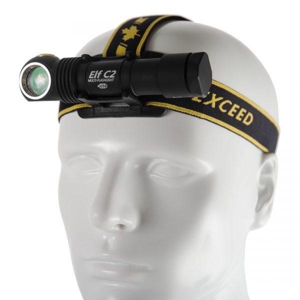 Налобный фонарь Armytek Elf C2 Micro-USB XP-L (белый свет) + 18650 Li-Ion 2
