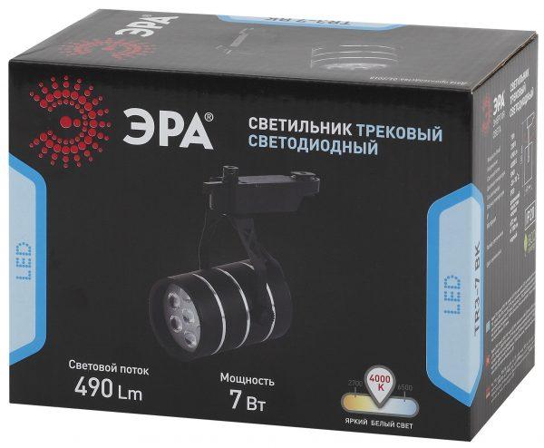 Трековый Светильник ЭРА 7Вт черный SMD TR3 - 7 BK 1