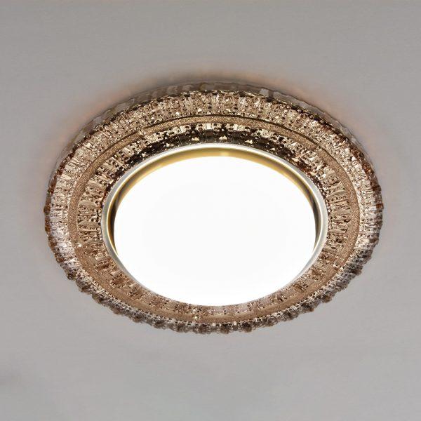 Встраиваемый точечный светильник с LED подсветкой 3028 GX53 CF кофе 3