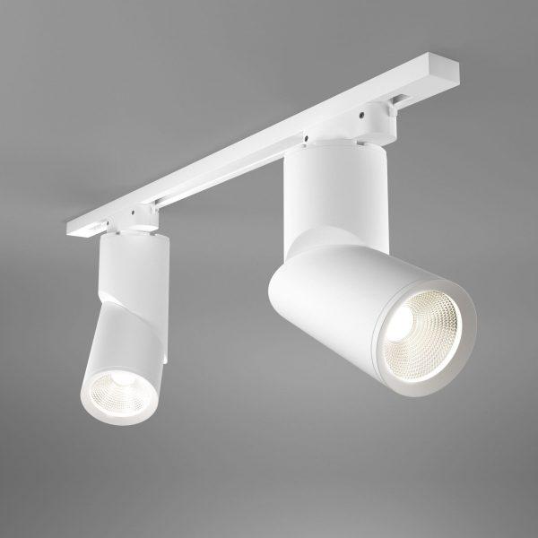 Трековый светодиодный светильник для однофазного шинопровода Corner Белый 15W 4200K