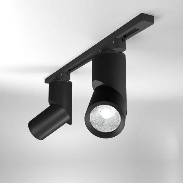 Трековый светодиодный светильник для однофазного шинопровода Corner Черный 15W 4200K