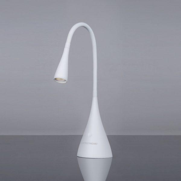 Настольный светодиодный светильник Lola белый матовый