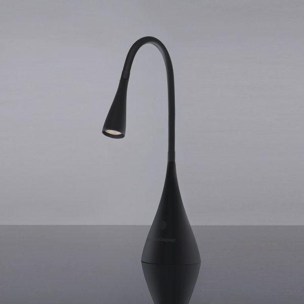 Настольный светодиодный светильник Lola черный матовый
