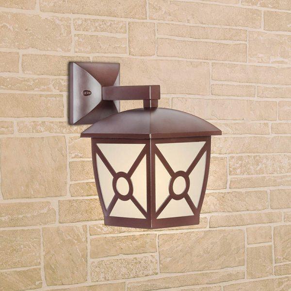 Columba D коричневый уличный настенный светильник