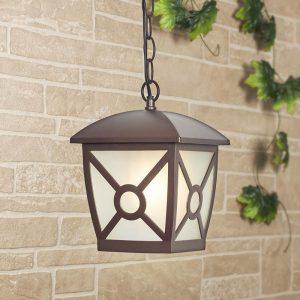 Columba H коричневый уличный подвесной светильник
