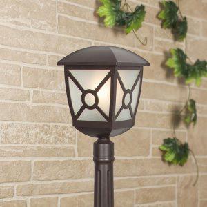 Columba F коричневый уличный светильник на столбе IP44