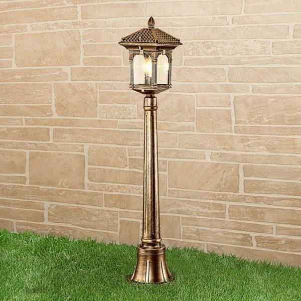 Corvus F черное золото уличный светильник на столбе IP44 GL 1021F 1