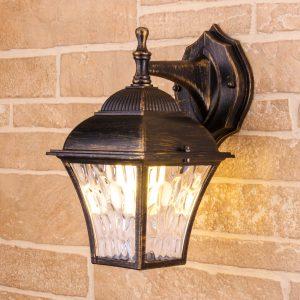 Apus D черное золото уличный настенный светильник