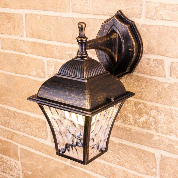 Apus D черное золото уличный настенный светильник GL 1009D 1