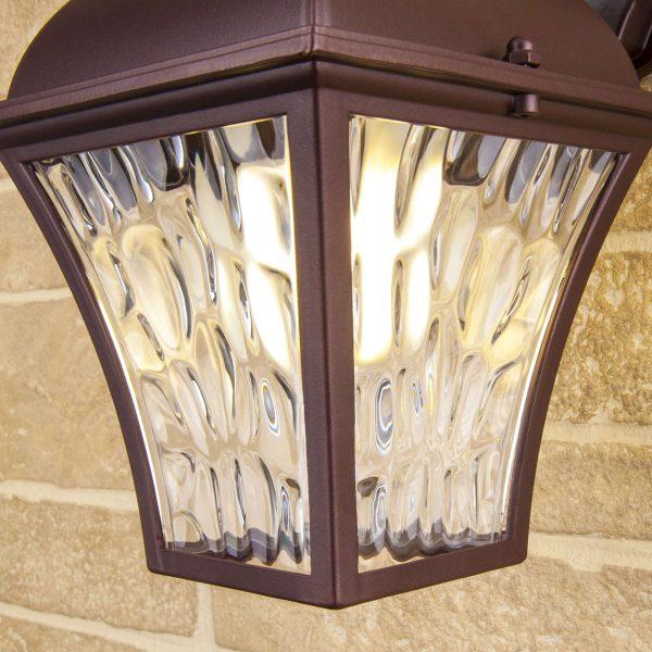Apus D шоколад уличный настенный светильник