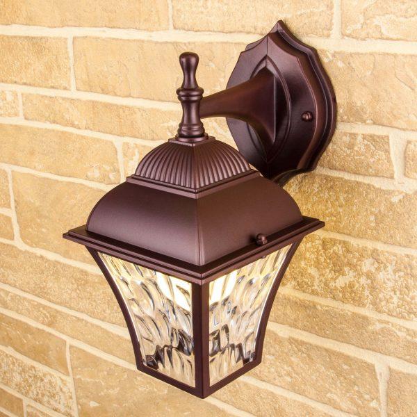 Apus D шоколад уличный настенный светильник GL 1009D 1