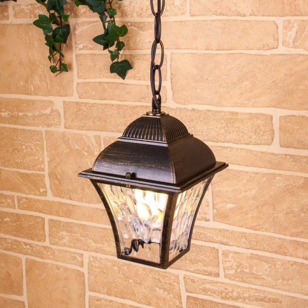 Apus H черное золото уличный подвесной светильник