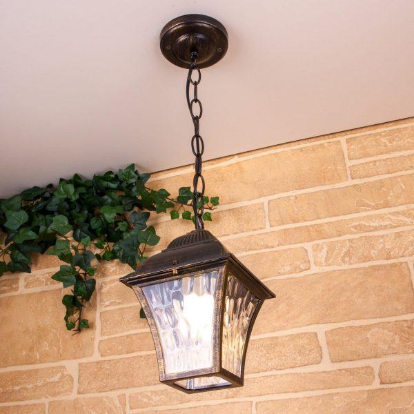 Apus H черное золото уличный подвесной светильник GL 1009H 2