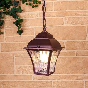 Apus H шоколад уличный подвесной светильник