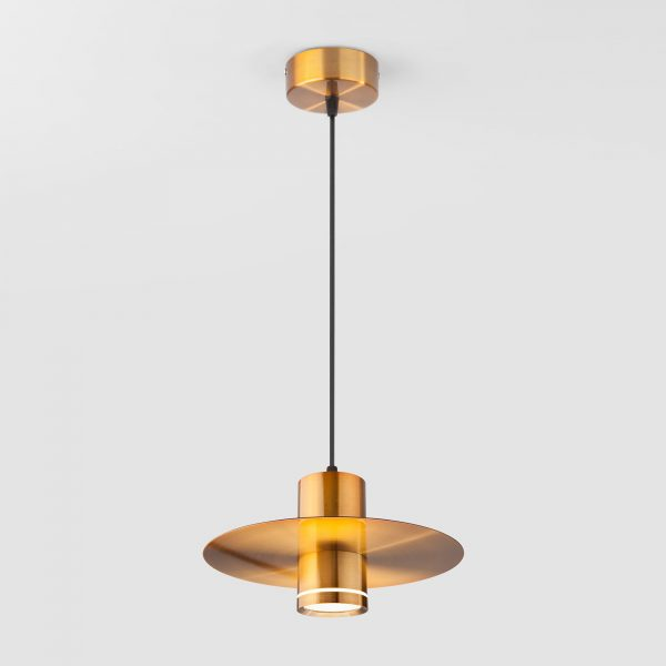 Накладной потолочный светодиодный светильник 50155/1 LED бронза 2