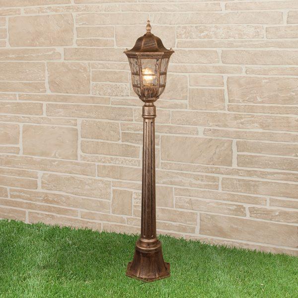Dorado F черное золото уличный светильник на столбе IP44 GL 1013F 1