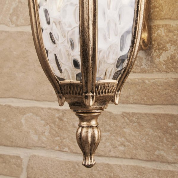 Draco D черное золото уличный настенный светильник