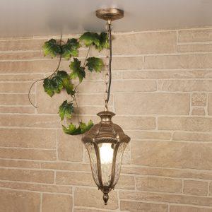 Draco H черное золото уличный подвесной светильник