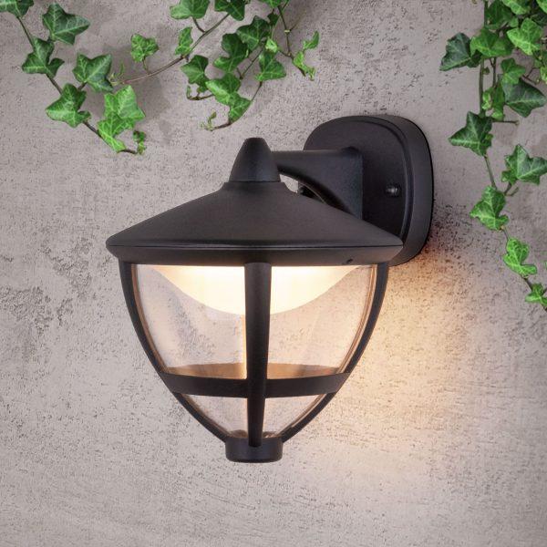 Gala D черный уличный настенный светодиодный светильник