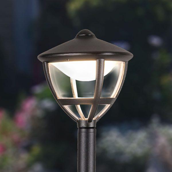 Уличный светодиодный светильник на столбе Gala F черный IP44