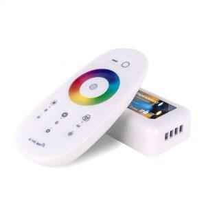 Сенсорный контроллер для светодиодной ленты RGB с ПДУ 12V (радио) IP40