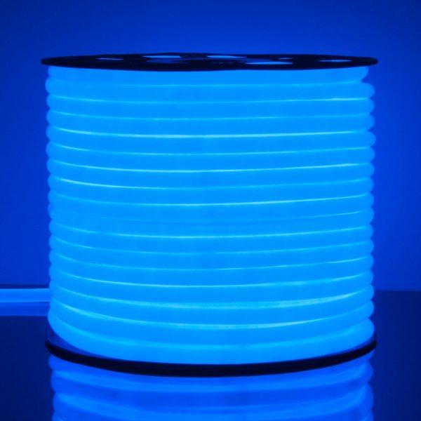 Светодиодный гибкий неон LS003 220V 9.6W 144Led 2835 IP67 круглый синий 6500К 2