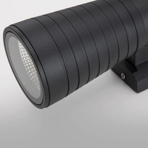 Tube uno черный уличный настенный светодиодный светильник 1503 TECHNO LED 1