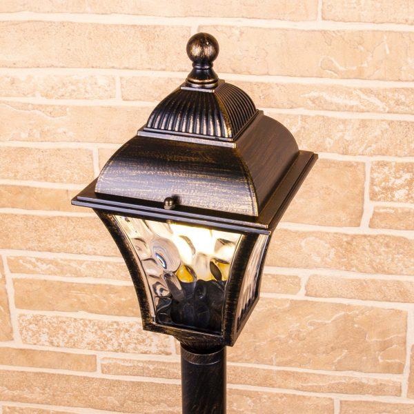 Apus F черное золото уличный светильник на столбе IP44 GL 1009F 2