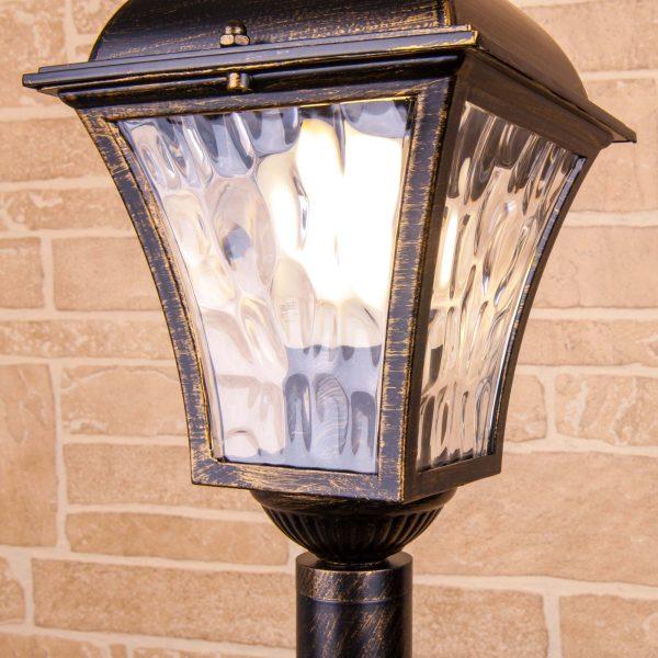 Apus F черное золото уличный светильник на столбе IP44 GL 1009F 3