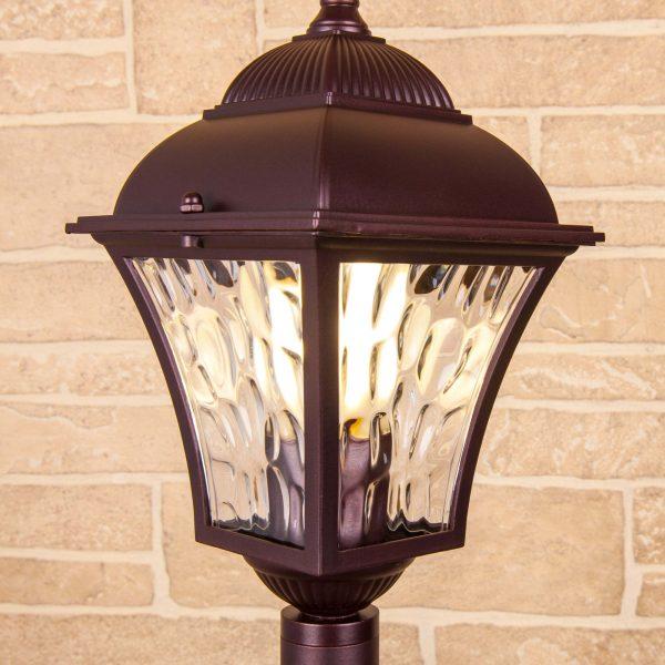 Apus F шоколад уличный светильник на столбе IP44 GL 1009F 2