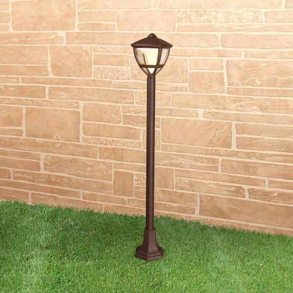 Уличный светодиодный светильник на столбе Gala F брауни IP44 GL LED 3001F 2