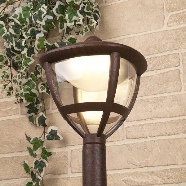 Уличный светодиодный светильник на столбе Gala F брауни IP44 GL LED 3001F 3