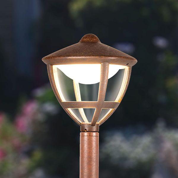 Уличный светодиодный светильник на столбе Gala F брауни IP44 GL LED 3001F 4