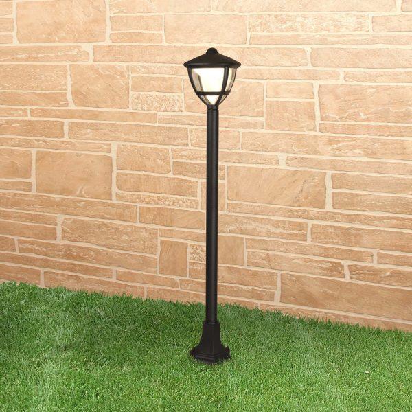 Уличный светодиодный светильник на столбе Gala F черный IP44 GL LED 3001F 2