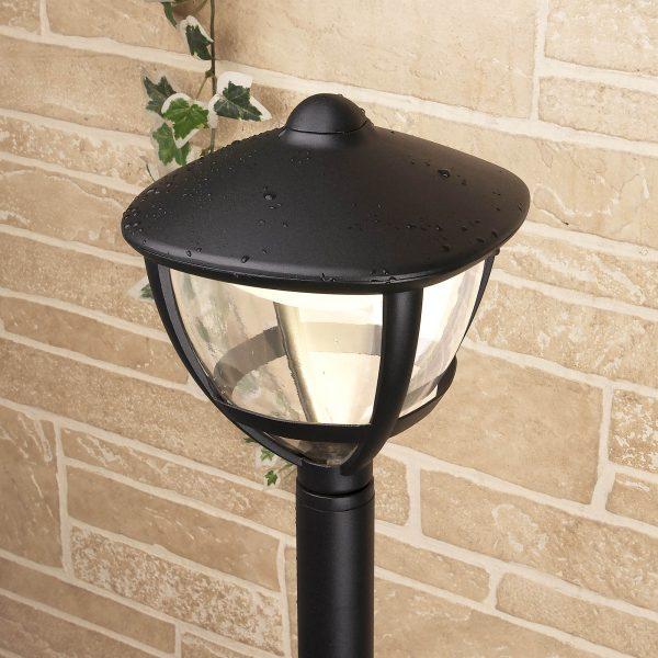 Уличный светодиодный светильник на столбе Gala F черный IP44 GL LED 3001F 3