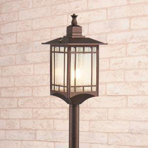 Vela F кофейное золото уличный светильник на столбе IP44