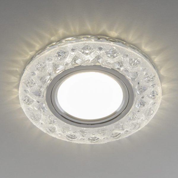 Встраиваемый точечный светильник с LED подсветкой 2222 MR16 CL прозрачный 1