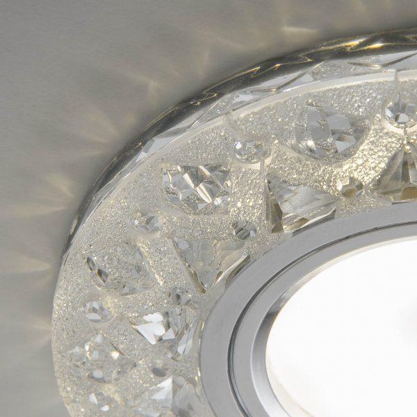 Встраиваемый точечный светильник с LED подсветкой 2222 MR16 CL прозрачный 5