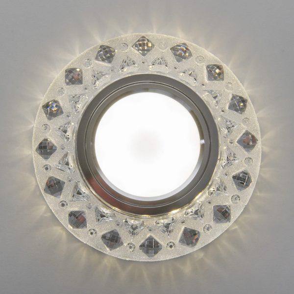 Встраиваемый точечный светильник с LED подсветкой 2222 MR16 CL прозрачный 6