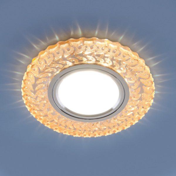 Встраиваемый точечный светильник с LED подсветкой