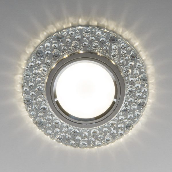 Встраиваемый точечный светильник с LED подсветкой 2224 MR16 CL прозрачный 2