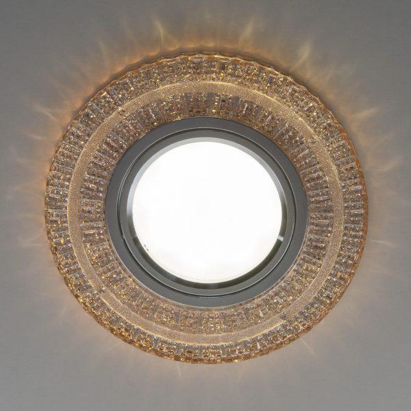 Встраиваемый точечный светильник с LED подсветкой 2225 MR16 GC тонированный 2