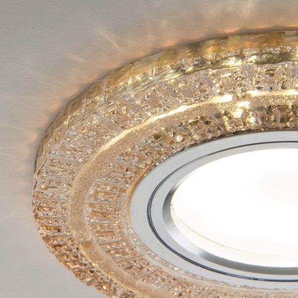 Встраиваемый точечный светильник с LED подсветкой 2225 MR16 GC тонированный 3