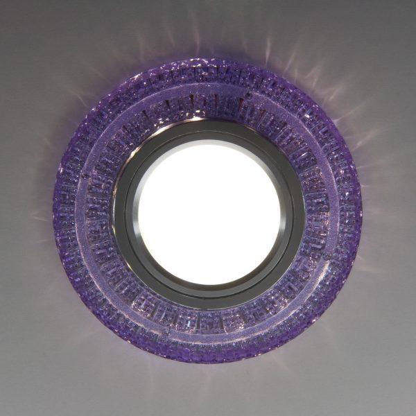 Встраиваемый точечный светильник с LED подсветкой 2225 MR16 PU фиолетовый 3